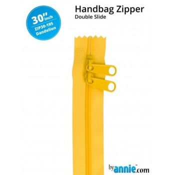 "By Annie 30"" Handbag Zipper Double Slide Dandelion Zip"