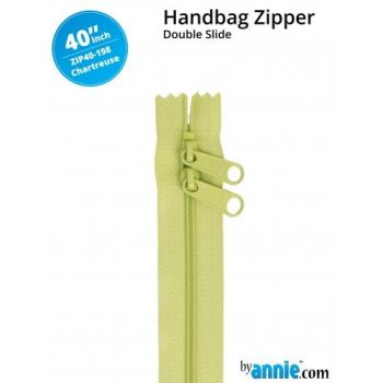 "By Annie 40"" Handbag Zipper Double Slide Chartreuse Zip"