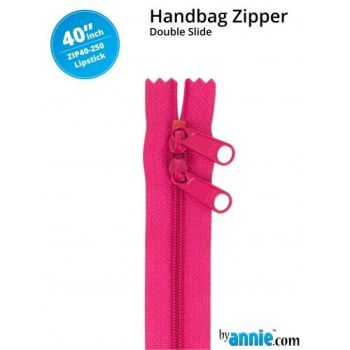 "By Annie 40"" Handbag Zipper Double Slide Lipstick Zip"
