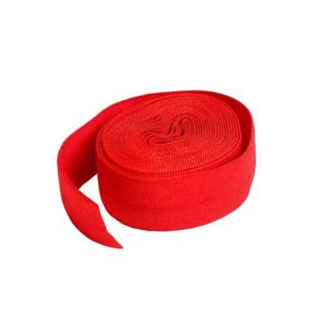 By Annie 3/4 inch 20mm Fold-Over Elastic Atom Red - 2 yards