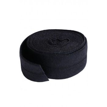 By Annie 3/4 inch 20mm Fold-Over Elastic Black - 2 yards