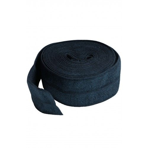 By Annie 3/4 inch 20mm Fold-Over Elastic Navy - 2 yards
