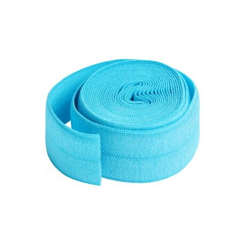 By Annie 3/4 inch 20mm Fold-Over Elastic Parrot Blue - 2 yards