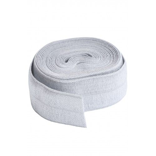 By Annie 3/4 inch 20mm Fold-Over Elastic Pewter - 2 yards