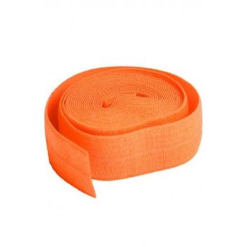 By Annie 3/4 inch 20mm Fold-Over Elastic Pumpkin - 2 yards