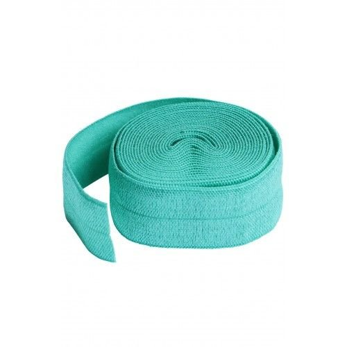 By Annie 3/4 inch 20mm Fold-Over Elastic Turquoise - 2 yards