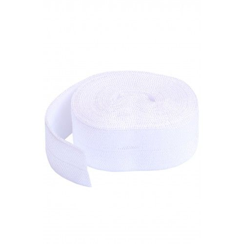 By Annie 3/4 inch 20mm Fold-Over Elastic White - 2 yards