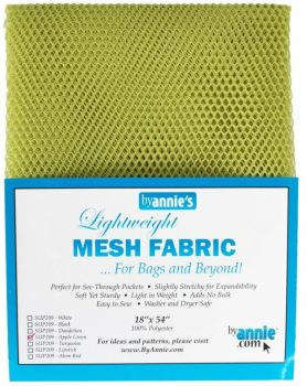 By Annie Lightweight Mesh Fabric Apple Green 18 in x 54 in