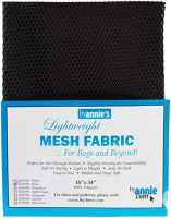 By Annie Lightweight Mesh Fabric Black 18 in x 54 in