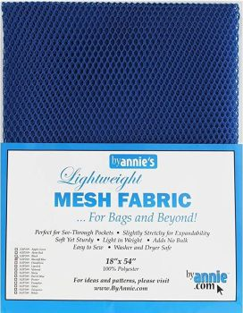 By Annie Lightweight Mesh Fabric Blastoff Blue 18 in x 54 in