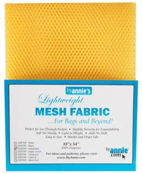 By Annie Lightweight Mesh Fabric Dandelion 18 in x 54 in