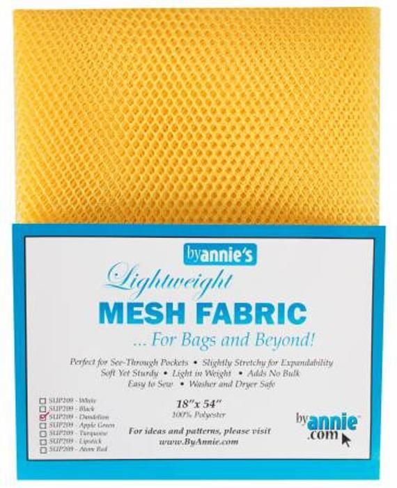 By Annie Lightweight Mesh Fabric Dandelion 18 in x 54 in