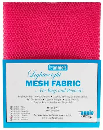 By Annie Lightweight Mesh Fabric Lipstick 18 in x 54 in