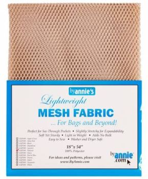 By Annie Lightweight Mesh Fabric Natural 18 in x 54 in