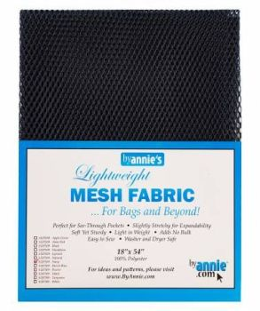By Annie Lightweight Mesh Fabric Navy 18 in x 54 in