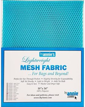 By Annie Lightweight Mesh Fabric Parrot Blue 18 in x 54 in