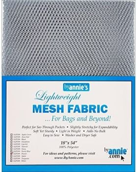 By Annie Lightweight Mesh Fabric Pewter 18 in x 54 in