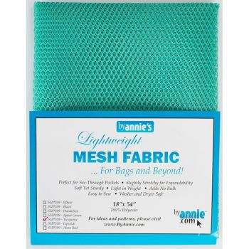 By Annie Lightweight Mesh Fabric Turquoise 18 in x 54 in