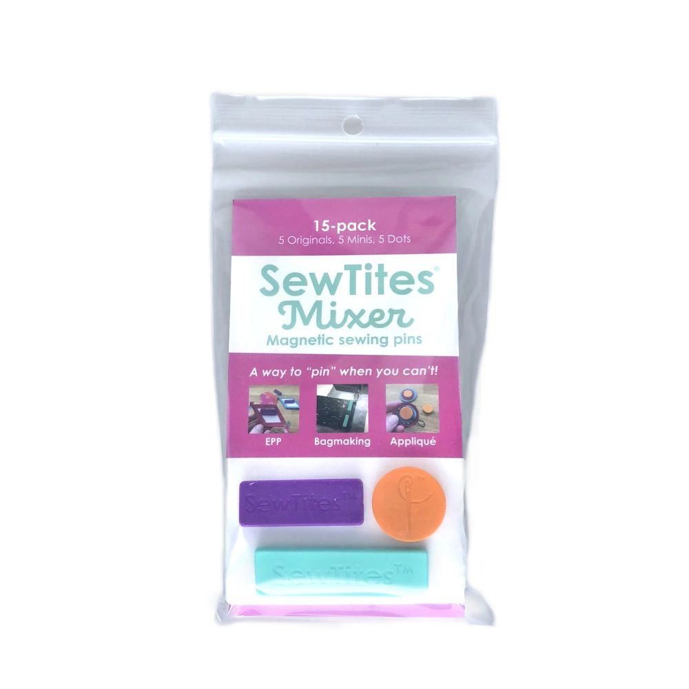SewTites Mixer Magnetic Pins for Sewing -15 Pack