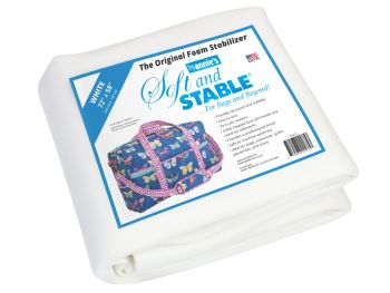 """By Annie Soft & Stable White 72"""" x 58"""" 2 Yard Pack"""