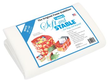 """By Annie Soft & Stable White 18"""" x 58"""" 0.5 Yard Pack"""