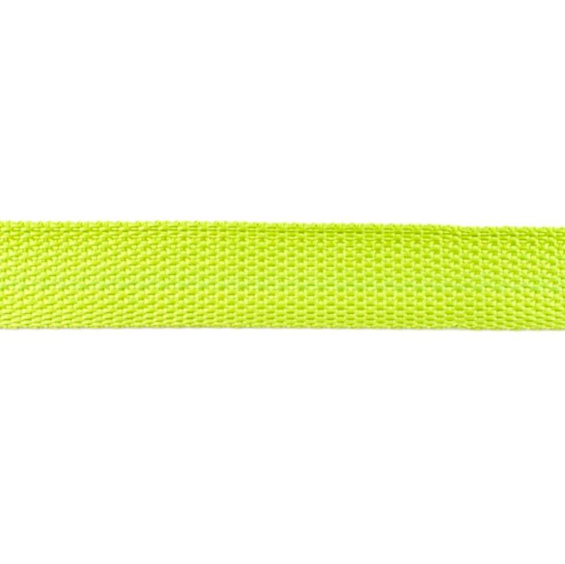 Bag Handles and Straps Webbing Lime Polypropylene 25mm Wide Per Metre