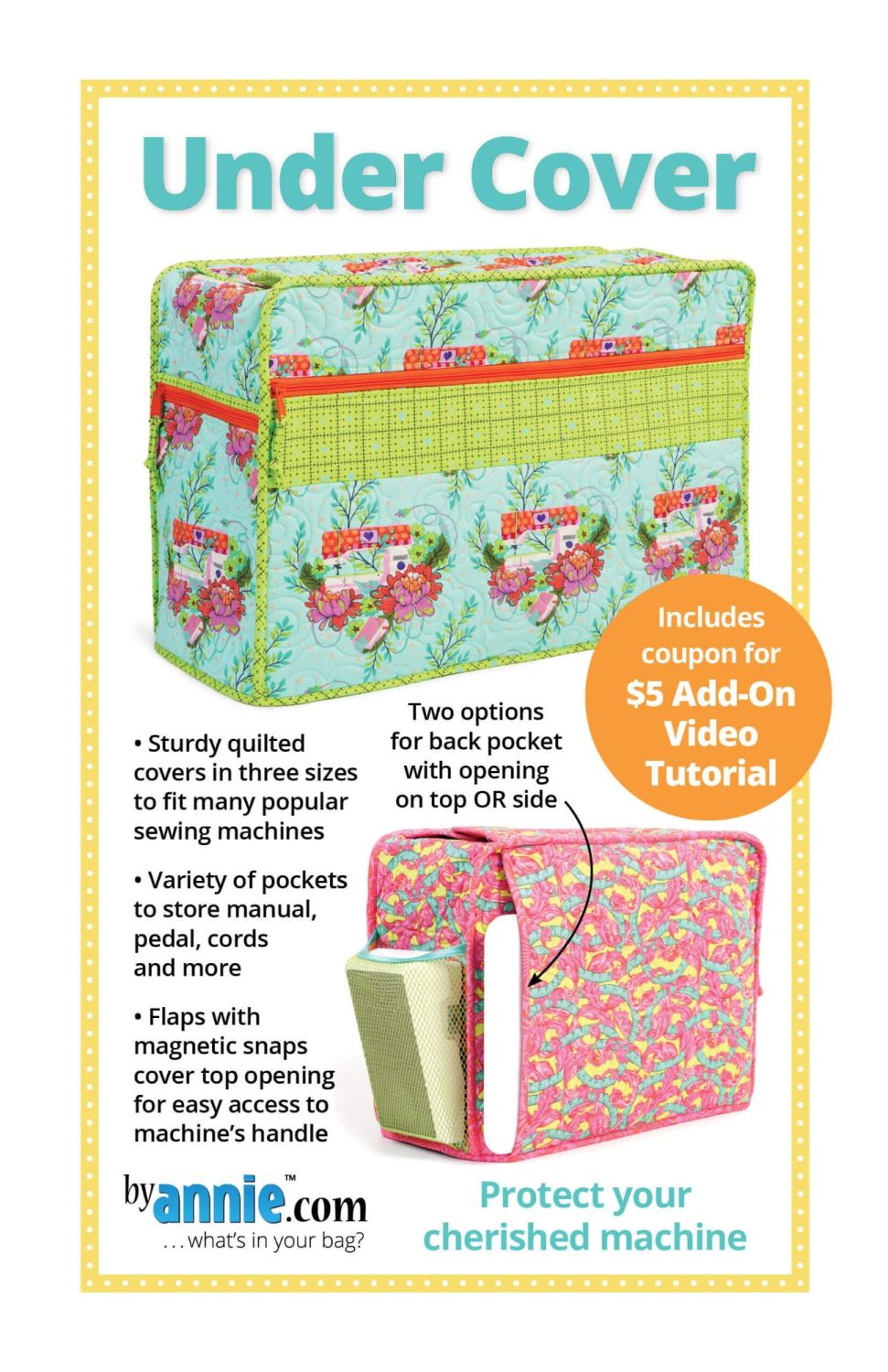 By Annie Under Cover Sewing Machine Cover Pattern