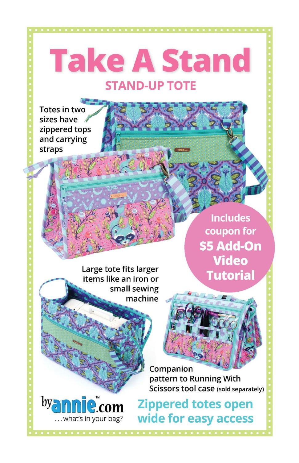 By Annie Take A Stand Bag Pattern