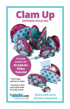 By Annie Clam Up Pouch Pattern