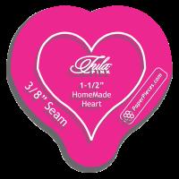 "Tula Pink HomeMade Heart Acrylic Fabric Cutting Template with 3/8"" Seam Allowance"