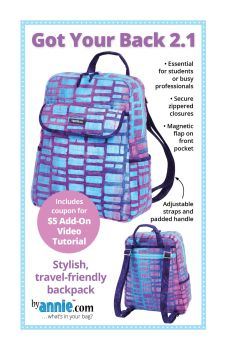 By Annie Got Your Back 2.1 Backpack Bag Pattern
