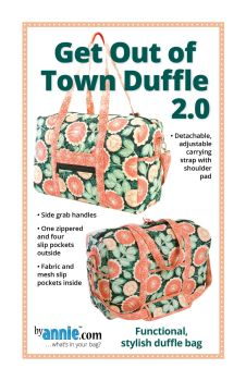 By Annie Get Out of Town Duffle 2.0 Bag Pattern