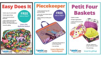 By Annie Beginner Bag Makers 3 Pattern Pack