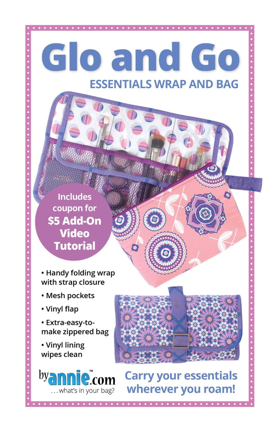By Annie Glo and Go Cosmetic Makeup Wrap Pattern