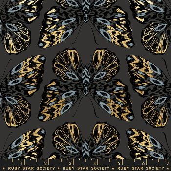 Tiger Fly Queen Ash Butterfly Metallic Gold Butterflies Ruby Star Society Sarah Watts Cotton Fabric