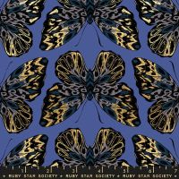 Tiger Fly Queen Twilight Butterfly Metallic Gold Butterflies Ruby Star Society Sarah Watts Cotton Fabric