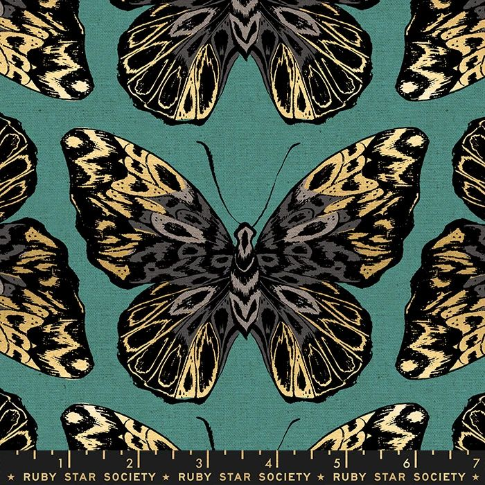 Tiger Fly Queen Aqua Butterfly Metallic Gold Butterflies Ruby Star Society