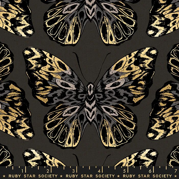 Tiger Fly Queen Noir Butterfly Metallic Gold Butterflies Ruby Star Society