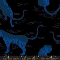 Tiger Fly Black Rayon Sarah Watts Ruby Star Society  Viscose Challis Fabric