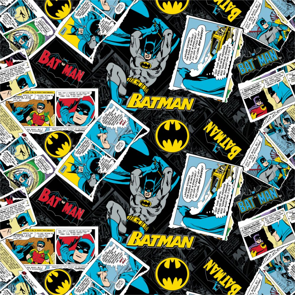 DC Batman 80th Anniversary Collage Comics Black Superhero Comic Book Hero D