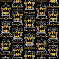 DC Batman 80th Anniversary Batman Bat Signal Logo Emblem Comics Black Superhero Comic Book Hero Dark Knight Cotton Fabric