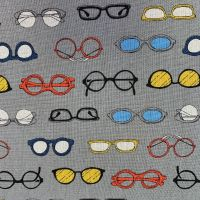Megane Glasses Spectacles Grey Cosmo Tex Japanese Cotton Linen Canvas Fabric