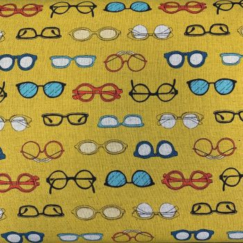 Megane Glasses Spectacles Yellow Cosmo Tex Japanese Cotton Linen Canvas Fabric