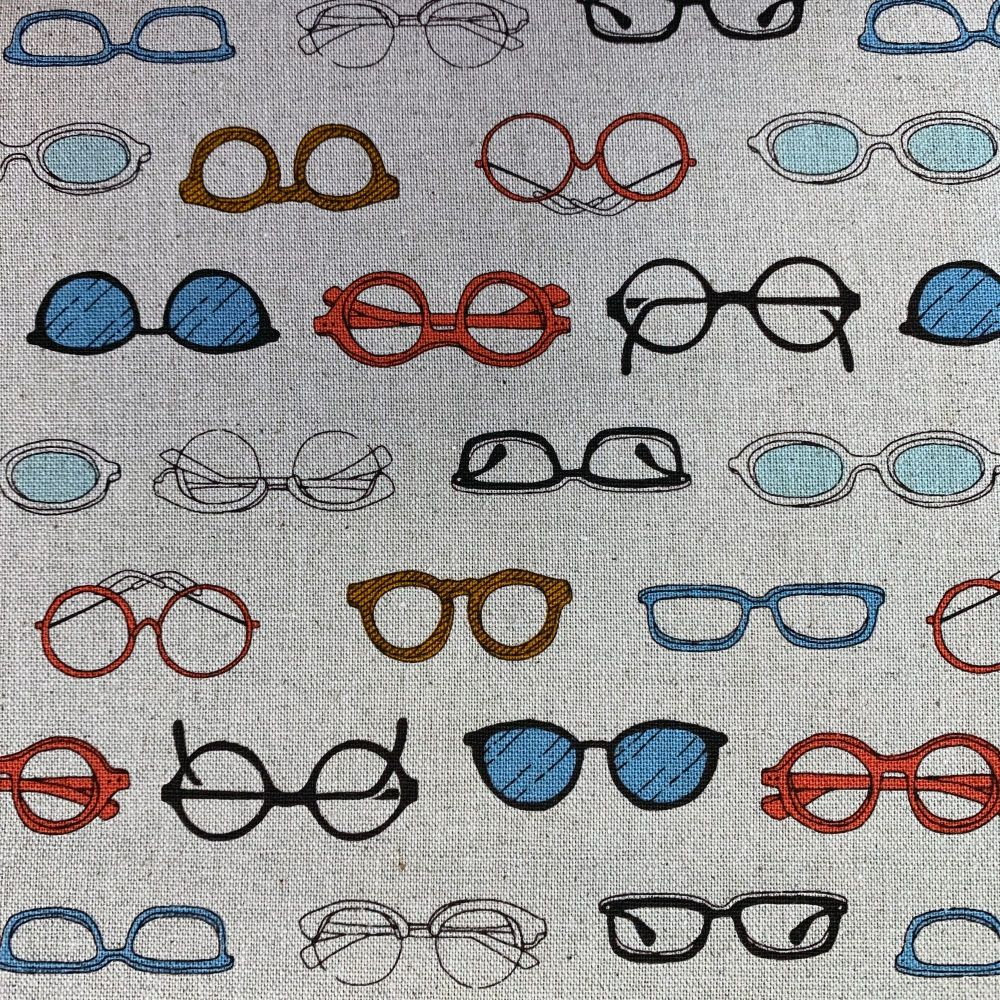 Megane Glasses Spectacles Natural Cosmo Tex Japanese Cotton Linen Canvas Fa