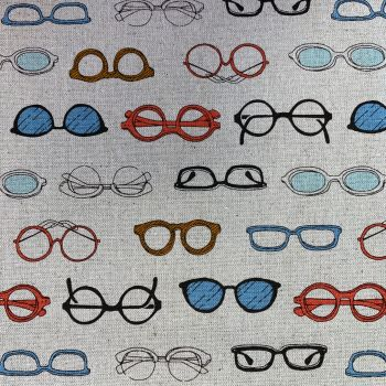 Megane Glasses Spectacles Natural Cosmo Tex Japanese Cotton Linen Canvas Fabric