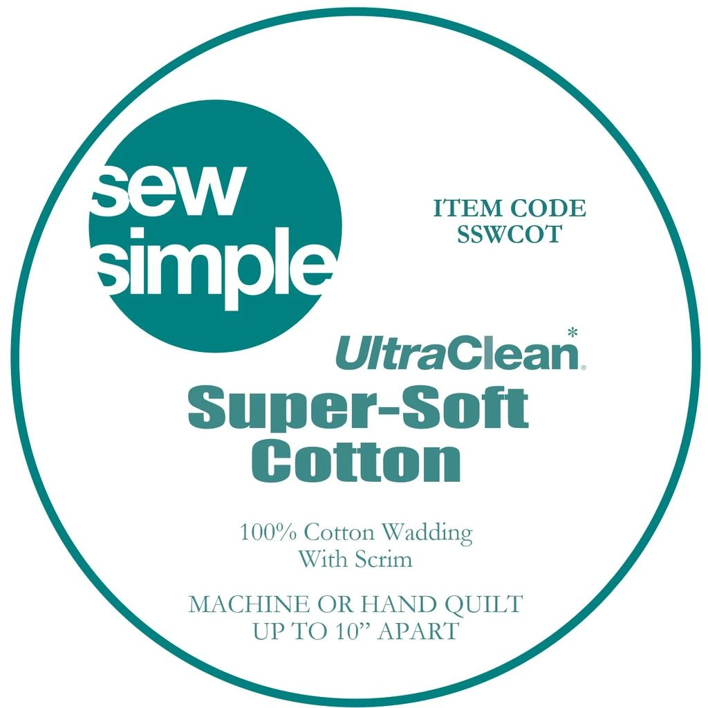 Sew Simple Super-Soft 100% Cotton Wadding Quilt Batting 90