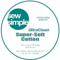 "Sew Simple Super-Soft 100% Cotton Wadding Quilt Batting 90"" Wide Sold Per 25cm"