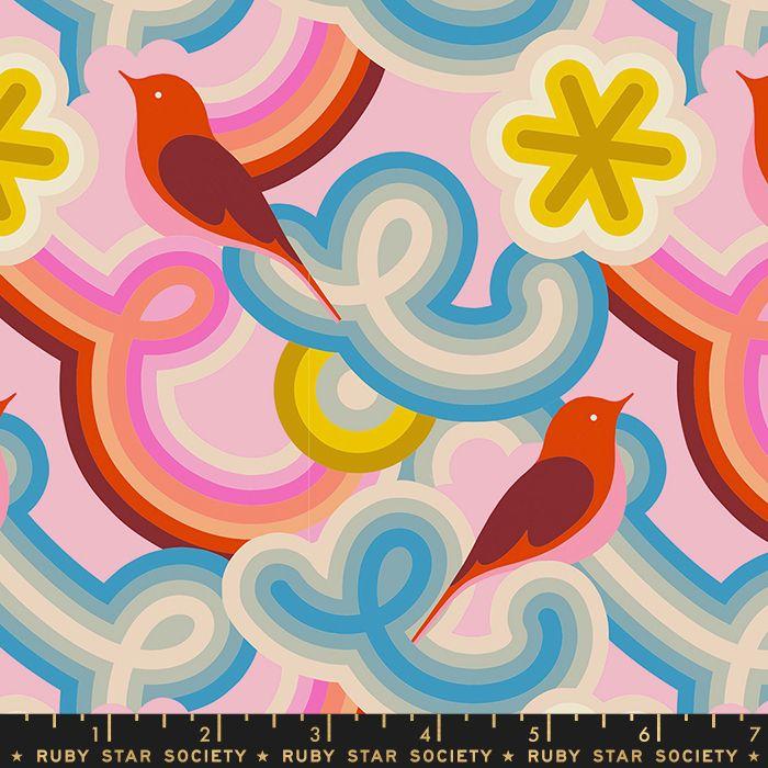 Social Good Morning Peony Pink Ruby Star Society Retro Bird Melody Miller C