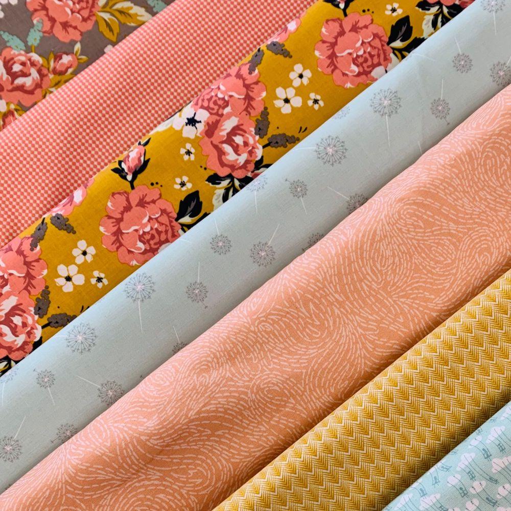 GillyMac Designs Virtual Retreat Fabric Kit - Riley Blake Designs Golden Da