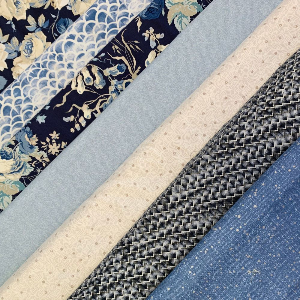 GillyMac Designs Virtual Retreat Fabric Kit - Sanderson Vintage